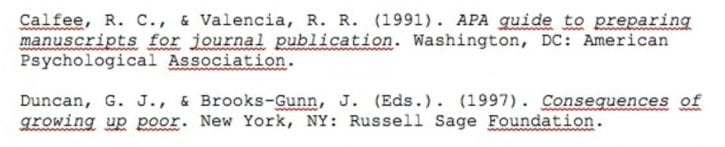 Example of alphabetizing reference in APA format