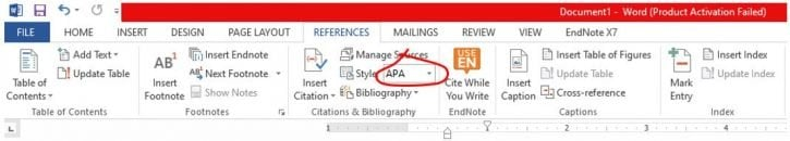 Setting Up the APA Reference Page in Microsoft Word