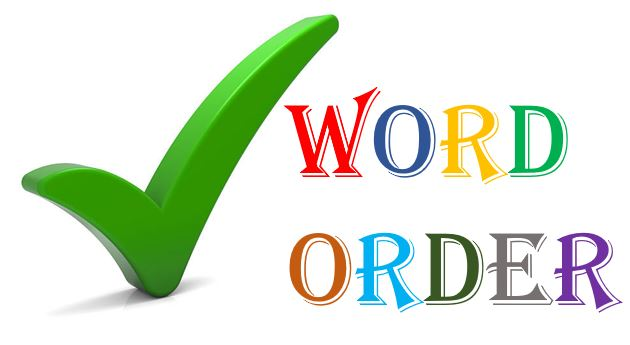 word order rules in English