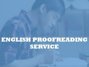 English editing service