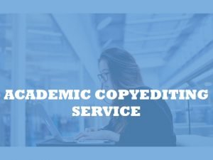 Academic copyediting service