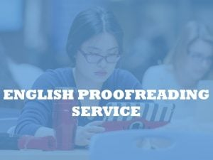 English Proofreading by Native speakers