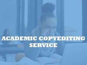 university copyeditor