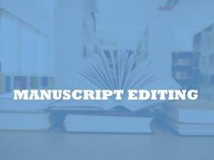 academic manuscript copy-editor
