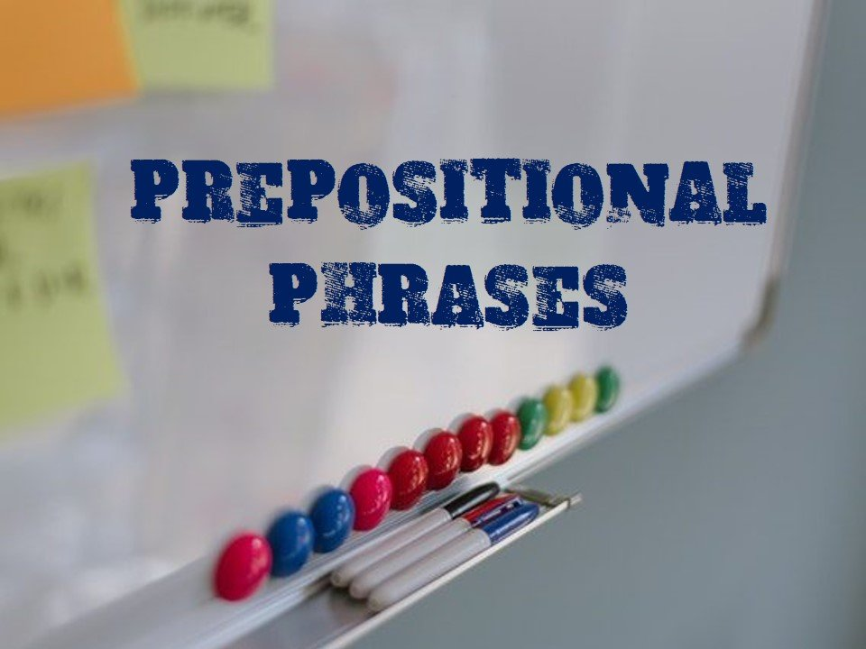 Academic Prepositional Phrases