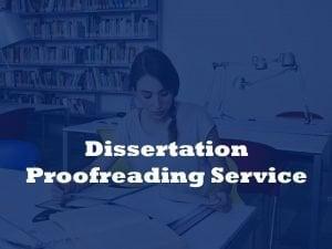 Dissertation proofreading service