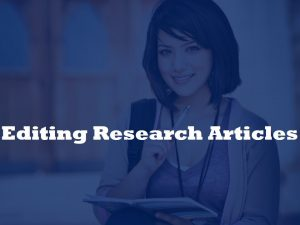 Research article editing