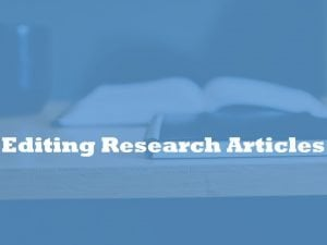 research article editor