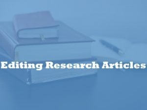 editing research articles