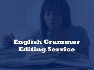 English grammar editor