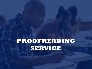 academic proofreading service