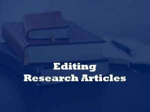 Editing rejected research papers