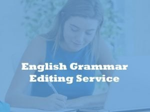 English grammar editing service