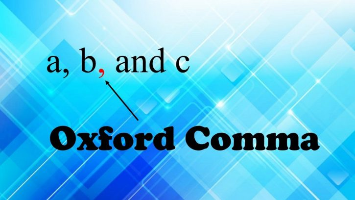 What is Oxford comma?