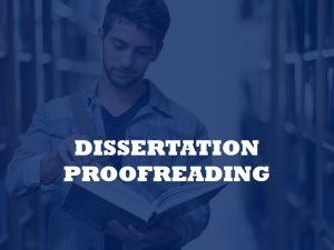 dissertation proofreader and editor