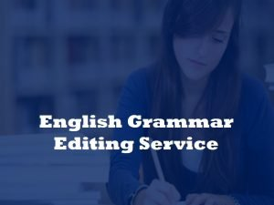 English grammar editing service