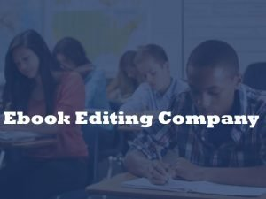Ebook editing service