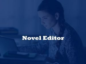 editing and proofreading novels
