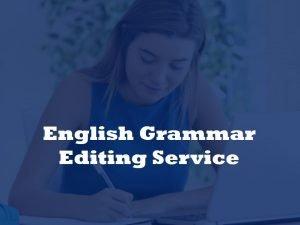 English grammar service