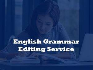 Eenglish grammar editing service