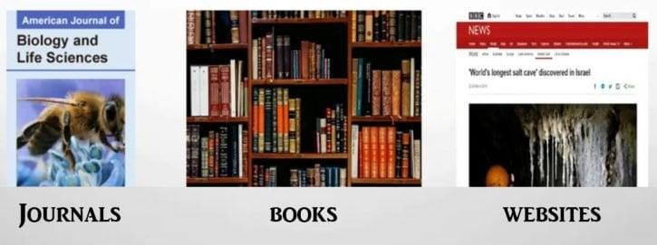 Journals books websites