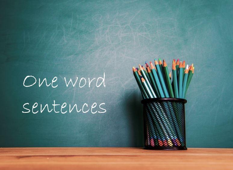 one-word sentences