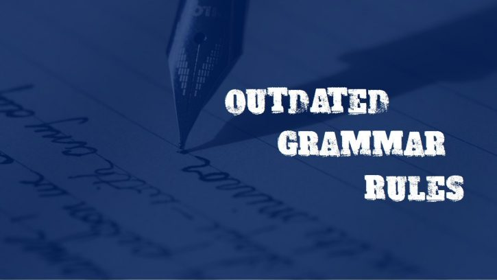 Outdated grammar rules