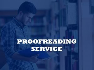 academic proofreader services
