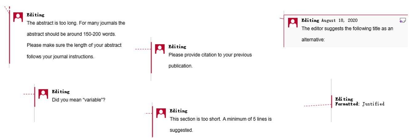 Editing and proofreading manuscripts