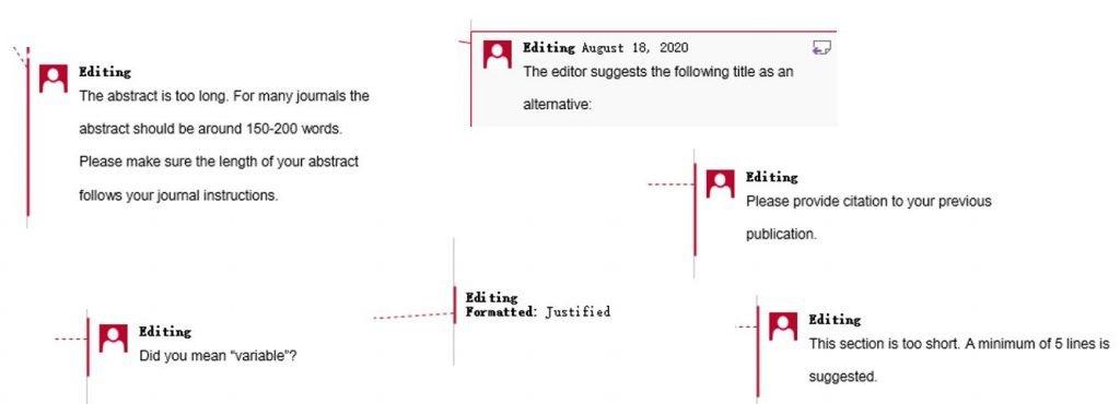Scientific Editing Comments