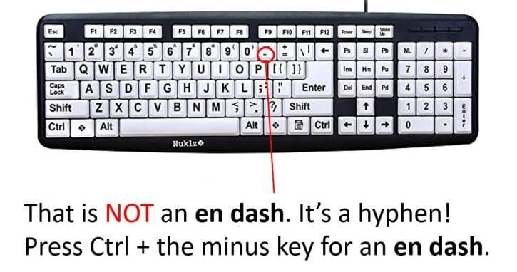That is not an en dash!