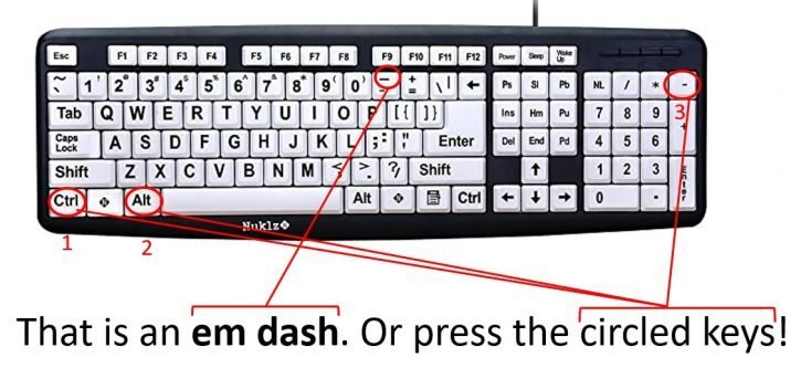 That is an em dash!