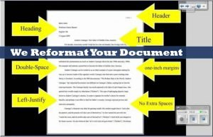We reformat your document
