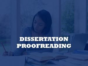 assistance in proofreading for graduate students' dissertations