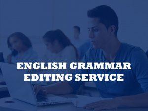 English copyediting services for grammar