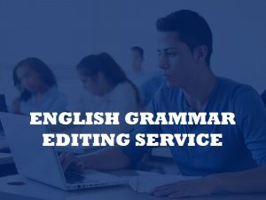 submit your document for editing the grammar