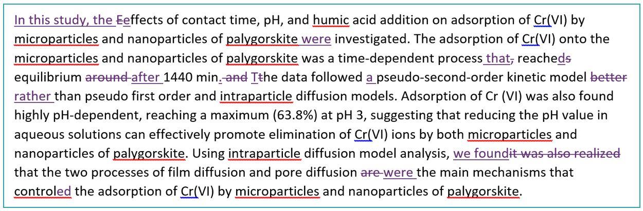 Scientific paper editing service