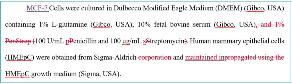Scientific article proofreading