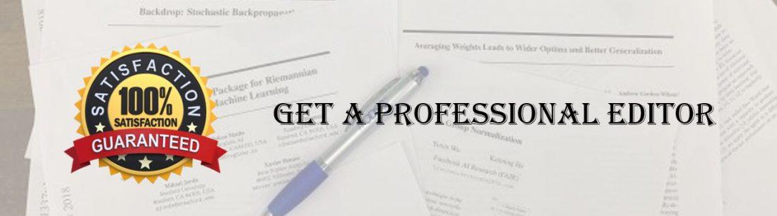 High-quality academic writing and editing
