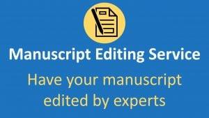 Journal manuscript editing service