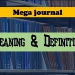 Mega journal definition