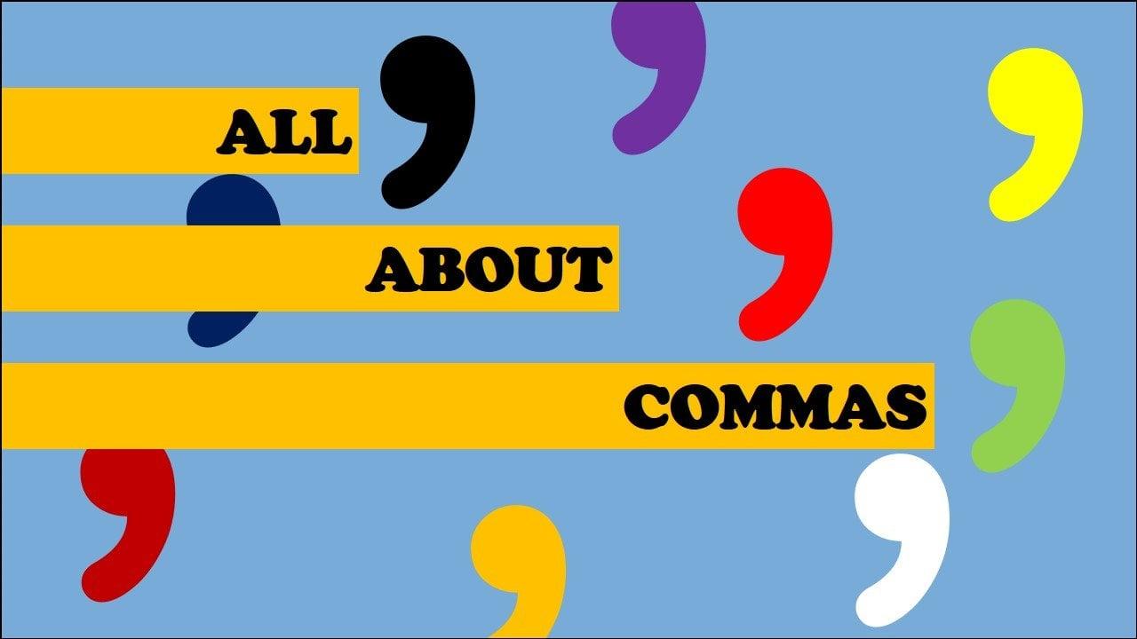 Where to use commas