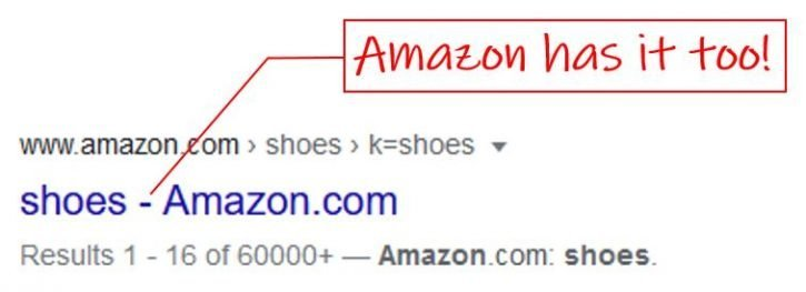 An example of a dash used by Amazon
