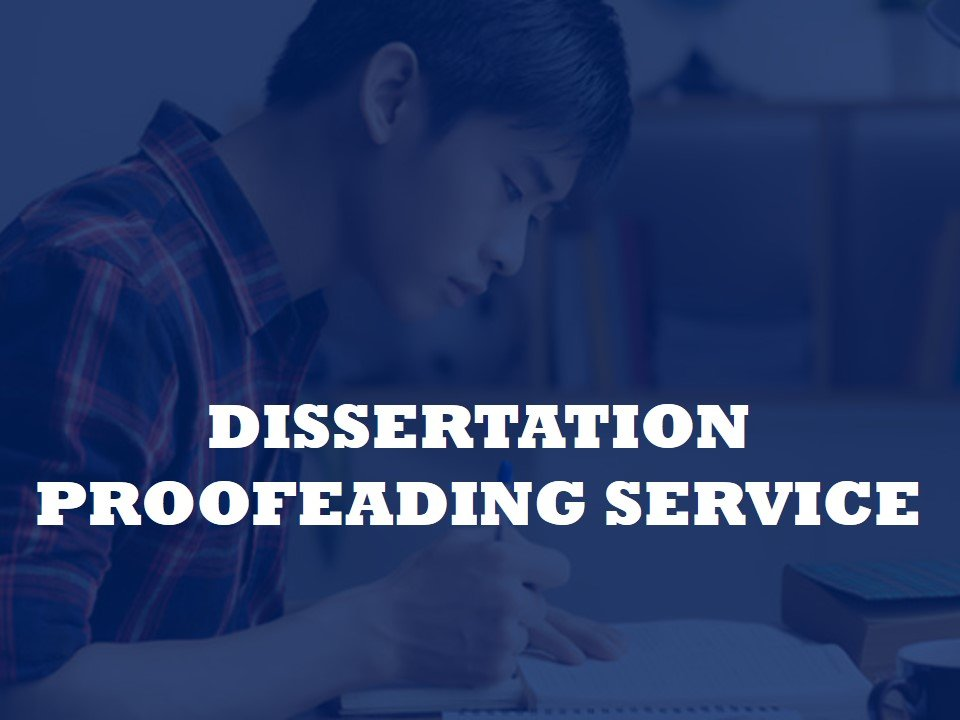 Supporting service for proofreading dissertations