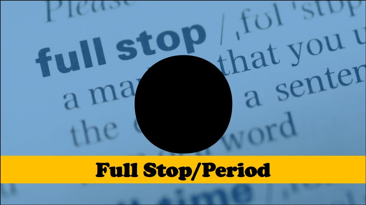 full stop or period