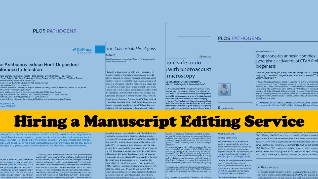 Benefits of hiring a manuscript editing service