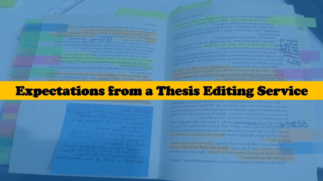 What to expect from a thesis editing service