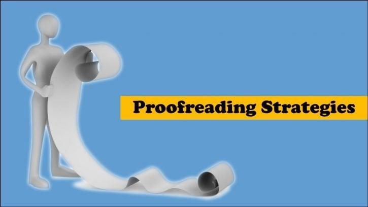 5 proofreading strategies