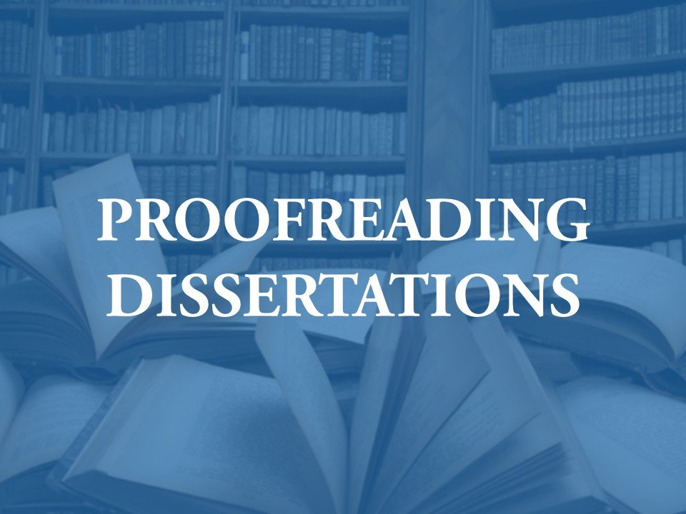 Dissertation can be proofread here