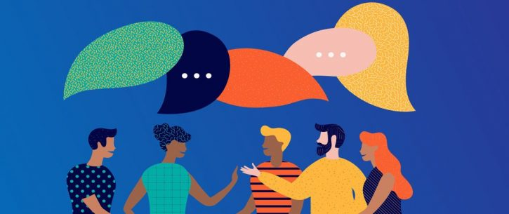 people talking together